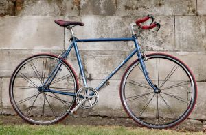 French Motobecane, restored as a single speed bike, all parts and wheels upgraded.