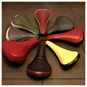handmade leather saddles from recycled sofa leather